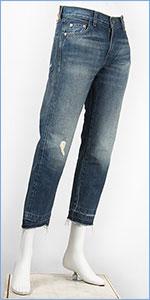 リーバイス 505 1967年モデル カスタマイズド セルビッジデニム ダメージ LEVI'S VINTAGE CLOTHING 1967 505 Customized Jeans for Women 9th St. 50569-0021