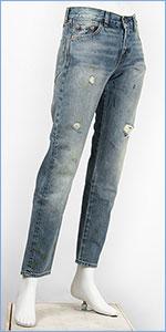 リーバイス 505 1967年モデル カスタマイズド セルビッジデニム ダメージ LEVI'S VINTAGE CLOTHING 1967 505 Customized Jeans for Women No.5 50569-0022