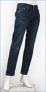 リーバイス レディース Levi's 501CT ボタンフライ オリジナル カスタマイズド&テーパード 13oz.デニム インディゴトレイル(ダークユーズド) Levi's 501 Jeans for Women 17804-0012