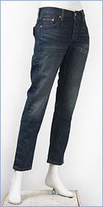 リーバイス レディース Levi's 501CT ボタンフライ オリジナル カスタマイズド&テーパード 13oz.デニム サチュレイテッドブルー(ダークユーズド) Levi's 501 Jeans for Women 17804-0015