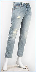 リーバイス レディース Levi's 501CT ボタンフライ オリジナル カスタマイズド&テーパード 10.75oz.セルビッジデニム オフロード(クラッシュユーズド) Levi's 501 Jeans for Women 17804-0018