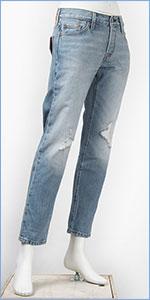 リーバイス レディース Levi's 501CT ボタンフライ オリジナル カスタマイズド&テーパード 12.5oz.デニム モーニングヘイズ(クラッシュユーズド) Levi's 501 Jeans for Women 17804-0020