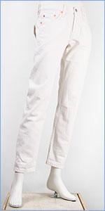 リーバイス レディース Levi's 501CT ボタンフライ オリジナル カスタマイズド&テーパード 10.2oz.セルビッジデニム スノードロップ(ホワイト) Levi's 501 Jeans for Women 17804-0039