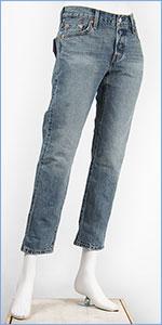 リーバイス レディース Levi's 501CT ボタンフライ オリジナル カスタマイズド&テーパード 11.8oz.混紡セルビッジデニム ルート66(ライトユーズド) Levi's 501 Jeans for Women 17804-0040