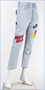 リーバイス ミッキーマウス レディース 501 クロップド ボタンフライ デニム LEVI'S x Disney COLLECTION MICKEY MOUSE WOMEN'S PREMIUM 501 CROPPRD 36200-0009