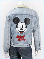 リーバイス ミッキーマウス レディース ボーイフレンド シェルパ トラッカー ジャケット デニム Levi's x Disney COLLECTION MICKEY MOUSE WOMEN'S TRUCKERS 36137-0010