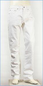 リーバイス 513フィット スリムストレート ストレッチデニム ホワイトブルデニム Levi's Classic 08513-0496