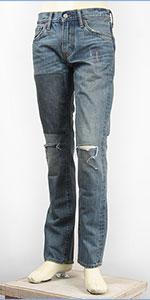 リーバイス 511 フィット スリム 14.5oz.デニム ダメージ&リペア Levi's Jeans 04511-2017