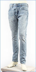 リーバイス 501 スキニー ボタンフライ セルビッジデニム ダメージ リペア Levi's 501 Jeans 34268-0004