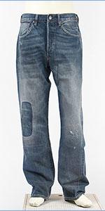 リーバイス LEVI'S 501XX 1955年モデル カスタマイズド セルビッジコーンデニム ユーズド+リペア LEVI'S VINTAGE CLOTHING 1955 501 Customized Jeans THUNDER CLAP 50155-0048