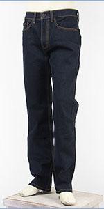 リーバイス 505 レギュラー フィット ストレッチデニム インディゴリンス Levi's 505 Jeans 00505-1550