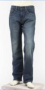 リーバイス 505 レギュラー フィット ストレッチデニム インディゴミッドユーズド Levi's 505 Jeans 00505-1551