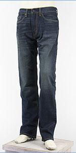 リーバイス 505 レギュラー フィット ストレッチデニム インディゴダークユーズド Levi's 505 Jeans 00505-1552