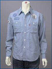 リーバイス・オリジナル シャンブレー・ワークシャツ(ホワイトバージョン) / セルビッジシャンブレー ( Levi's Original Shirt 60550-0014 )