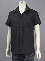 リーバイス・プレミアム 半袖 プリーテッド レギュラーシャツ / ブロードクロス ( Levi's Premium Shirt 62105-0003 )