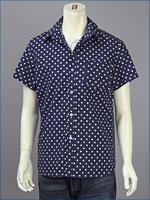 リーバイス・プレミアム 半袖 ホワイトスポットシャツ / ブロードクロス ( Levi's Premium Shirt 62104-0002 )