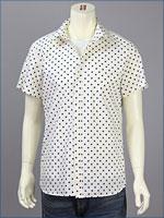 リーバイス・プレミアム 半袖 ホワイトスポットシャツ / ブロードクロス ( Levi's Premium Shirt 62104-0003 )