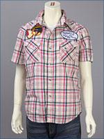 リーバイス・オリジナル 半袖 ウェスタン パッチドシャツ / ダンガリーチェック ( Levi's Original Shirt 62548-0003 )