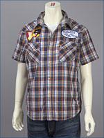 リーバイス・オリジナル 半袖 ウェスタン パッチドシャツ / ダンガリーチェック ( Levi's Original Shirt 62548-0004 )