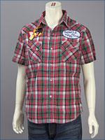 リーバイス・オリジナル 半袖 ウェスタン パッチドシャツ / ダンガリーチェック ( Levi's Original Shirt 62548-0005 )