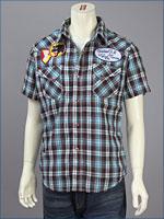 リーバイス・オリジナル 半袖 ウェスタン パッチドシャツ / ダンガリーチェック ( Levi's Original Shirt 62548-0006 )
