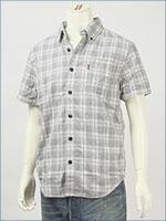 リーバイス・オリジナル 半袖・ボタンダウンチェックシャツ / ダブルクロス ( Levi's Original Shirt 62618-0001 )