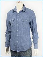 リーバイス Levi's ソートゥース ウェスタンシャツ コットンリネンシャンブレー トゥルーブルー Levi's Red Tab Shirt 65819-0003 長袖