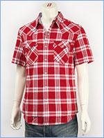 リーバイス 半袖 バーストゥー ウェスタンシャツ チェック Levi's Red Tab Shirt 65817-0024