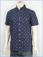 リーバイス 半袖 バート ボタンダウンシャツ 綿麻 小紋柄 Levi's Red Tab Shirt 65970-0010
