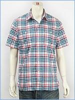 リーバイス ストック ワークシャツ チェックポプリン(クールマックスファブリック) Levi's Shirt 65823-0028 半袖