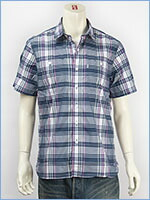 リーバイス ストック ワークシャツ チェックポプリン(クールマックスファブリック) Levi's Shirt 65823-0029 半袖