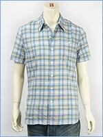 リーバイス 半袖 ユーティリティーシャツ ブルーチェック Levi's S/S Shirt 17257-0011
