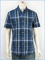 リーバイス 半袖 クラシック ワンポケットシャツ ポプリン ブルーチェック Levi's S/S Shirt 65826-0064