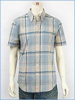 リーバイス 半袖 クラシック ワンポケットシャツ ポプリン ニュートラルチェック Levi's S/S Shirt 65826-0066