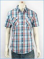 リーバイス 半袖 トラッキー ウェスタンシャツ ツイルチェック Levi's S/S Shirt 65885-0015