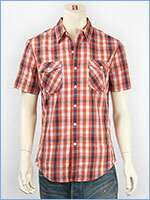 リーバイス 半袖 トラッキー ウェスタンシャツ ツイルチェック Levi's S/S Shirt 65885-0016