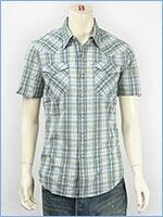 リーバイス 半袖 バーストゥー ウェスタンシャツ マドラス Levi's S/S Shirt 65817-0047