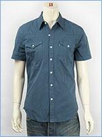 リーバイス 半袖 バーストゥー ウェスタンシャツ ツイル Levi's S/S Shirt 65817-0053