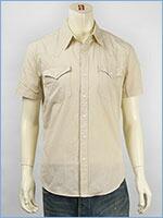 リーバイス 半袖 バーストゥー ウェスタンシャツ ツイル Levi's S/S Shirt 65817-0057