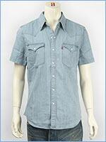リーバイス 半袖 バーストゥー ウェスタンシャツ デニム Levi's S/S Shirt 65817-0058