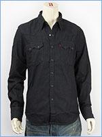 リーバイス ソートゥース ウェスタンシャツ 7.5oz.デニム ブラック Levi's Shirt 65819-0071 長袖