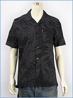 リーバイス ハワイアンシャツ 裏プリント使い ブラック Levi's Shirt 21975-0004 半袖