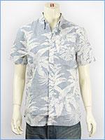 リーバイス クラシック ワンポケット ボタンダウンシャツ 裏プリント使い ガーディナーブルー Levi's Shirt 65826-0077 半袖 綿麻