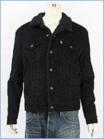 リーバイス シェルパトラッカージャケット コーデュロイ ブラック Levi's TRUCKERS 16365-0076