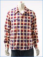 リーバイス ウエスタンシャツ プリントチェック LEVI'S VINTAGE CLOTHING SHORT HORN SHIRT 29164-0000