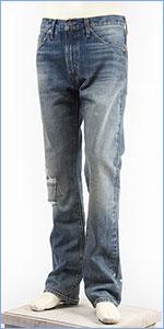 リーバイス LEVI'S 505 1967年モデル セルビッジデニム ダメージユーズド LEVI'S VINTAGE CLOTHING 1967 505 Jeans Dropout Boogie 67505-0108