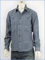 マナスタッシュ シャンブレー フィールドシャツ ヘンプ/コットンシャンブレー MANASTASH CHAMBRAY L/S FIELD SHIRT 7135002-82 長袖