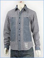 マナスタッシュ シャンブレー フィールドシャツ ヘンプ/コットンシャンブレー MANASTASH CHAMBRAY L/S FIELD SHIRT 7135002-88 長袖