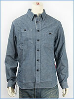 マナスタッシュ ヘンプ ワークシャツ ストレッチシャンブレー MANASTASH MADE IN JAPAN HEMP WORK SHIRT 7145007-82 長袖