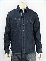 マナスタッシュ ヘンプ ワークシャツ ストレッチデニム MANASTASH MADE IN JAPAN HEMP WORK SHIRT 7145007-88 長袖